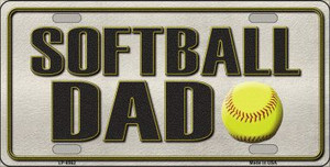 Softball Dad Wholesale Metal Novelty License Plate