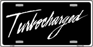 Turbocharged Wholesale Metal Novelty License Plate LP-1892