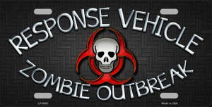 Response Vehicle Wholesale Metal Novelty License Plate