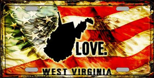 West Virginia Love Wholesale Metal Novelty License Plate
