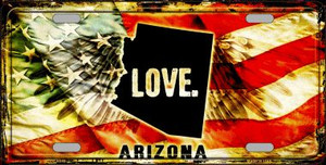 Arizona Love Wholesale Metal Novelty License Plate
