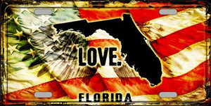 Florida Love Wholesale Metal Novelty License Plate