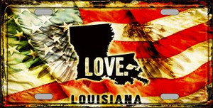 Louisiana Love Wholesale Metal Novelty License Plate