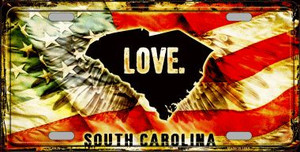 South Carolina Love Wholesale Metal Novelty License Plate