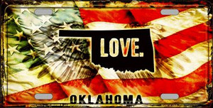 Oklahoma Love Wholesale Metal Novelty License Plate