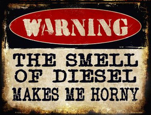The Smell Of Diesel Wholesale Metal Novelty Parking Sign