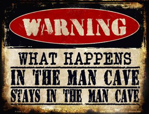 In The Man Cave Wholesale Metal Novelty Parking Sign