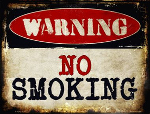 No Smoking Wholesale Metal Novelty Parking Sign