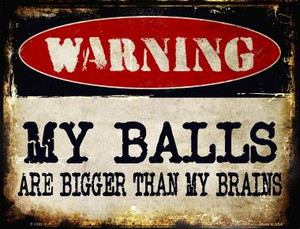 My Balls Wholesale Metal Novelty Parking Sign
