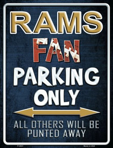 Rams Wholesale Metal Novelty Parking Sign