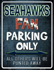 Seahawks Wholesale Metal Novelty Parking Sign