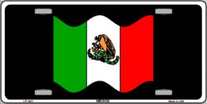 Mexico Waving Flag Wholesale Metal Novelty License Plate LP-1921