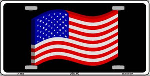 USA 3-D Flag Wholesale Metal Novelty License Plate LP-1923