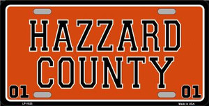 Hazard County Wholesale Metal Novelty License Plate