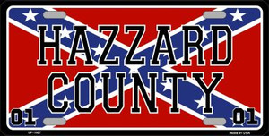 Hazard County Confederate Flag Wholesale Metal Novelty License Plate