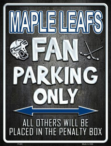 Maple Leafs Wholesale Metal Novelty Parking Sign