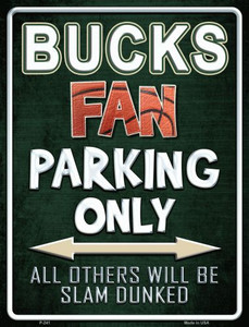 Bucks Wholesale Metal Novelty Parking Sign