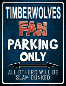 Timberwolves Wholesale Metal Novelty Parking Sign
