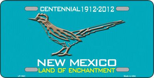 Road Runner Teal New Mexico Novelty Wholesale Metal License Plate LP-1941