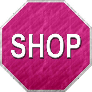 Shop With Pink Background Wholesale Metal Novelty Stop Sign