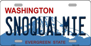 Snoqualmie Washington Background Wholesale Metal Novelty License Plate