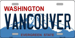 Vancouver Washington Background Wholesale Metal Novelty License Plate
