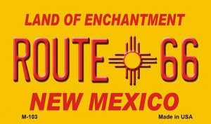 Route 66 New Mexico Wholesale Novelty Metal Magnet