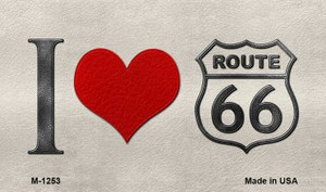 I Love Route 66 Wholesale Novelty Metal Magnet