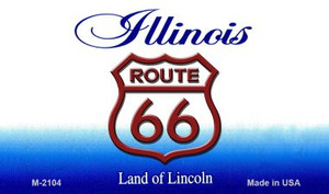 Route 66 On Illinois Background Wholesale Novelty Metal Magnet