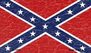 Confederate Flag Distressed Wholesale Novelty Metal Magnet