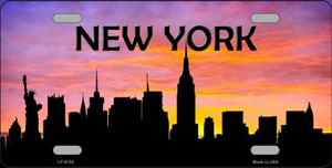 New York Silhouette Wholesale Metal Novelty License Plate