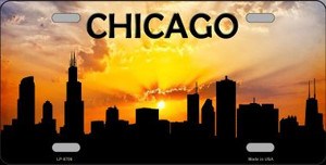 Chicago Silhouette Wholesale Metal Novelty License Plate