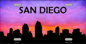San Diego Silhouette Wholesale Metal Novelty License Plate