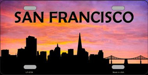 San Francisco Silhouette Wholesale Metal Novelty License Plate