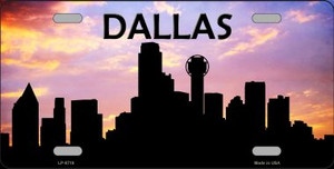 Dallas Silhouette Wholesale Metal Novelty License Plate