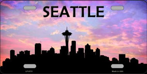 Seattle Silhouette Wholesale Metal Novelty License Plate