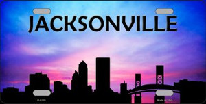Jacksonville Silhouette Wholesale Metal Novelty License Plate