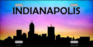 Indianapolis Silhouette Wholesale Metal Novelty License Plate