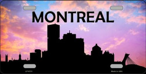 Montreal Silhouette Wholesale Metal Novelty License Plate