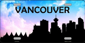 Vancouver Silhouette Wholesale Metal Novelty License Plate