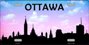 Ottawa Silhouette Wholesale Metal Novelty License Plate