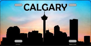 Calgary Silhouette Wholesale Metal Novelty License Plate