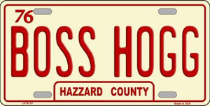 Boss Hogg Hazzard County Wholesale Metal Novelty License Plate