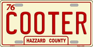 Cooter Wholesale Metal Novelty License Plate