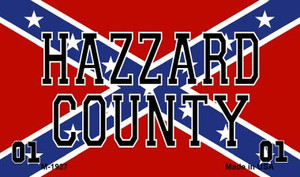Hazzard County On Confederate Flag Wholesale Novelty Metal Magnet