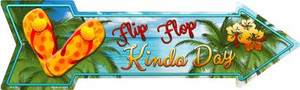 Flip Flop Wholesale Novelty Metal Arrow Sign