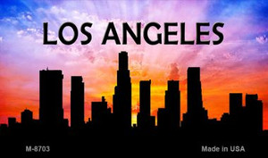 Los Angeles Silhouette Wholesale Novelty Metal Magnet