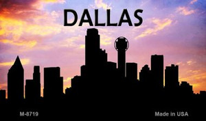 Dallas Silhouette Wholesale Novelty Metal Magnet