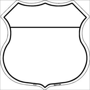 White|Black Plain Highway Shield Wholesale Metal Sign