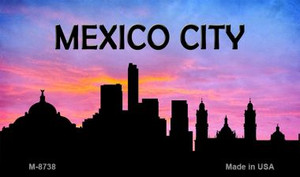 Mexico City Silhouette Wholesale Novelty Metal Magnet